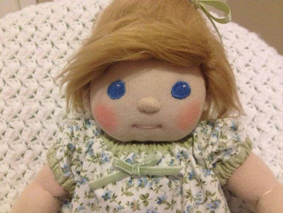 Made to order! Li'l Smunchie Soft Sculpture Custom Baby Doll with CUSTOM PEASANT DRESS