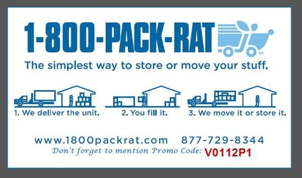 Make your local or long distance move conveniently with PACK-RAT's portable containers delivered to you. Take your time packing, leave the driving to us.
