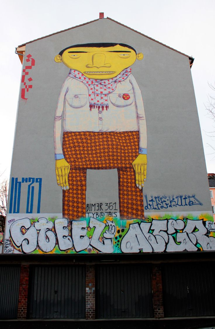 brandwände (fire walls) are typical for @Amber houses and make a perfect canvas for grafitti artists