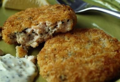 Salmon Patties Made with Fresh Not Canned Fish Means More Flavor: Salmon Patties