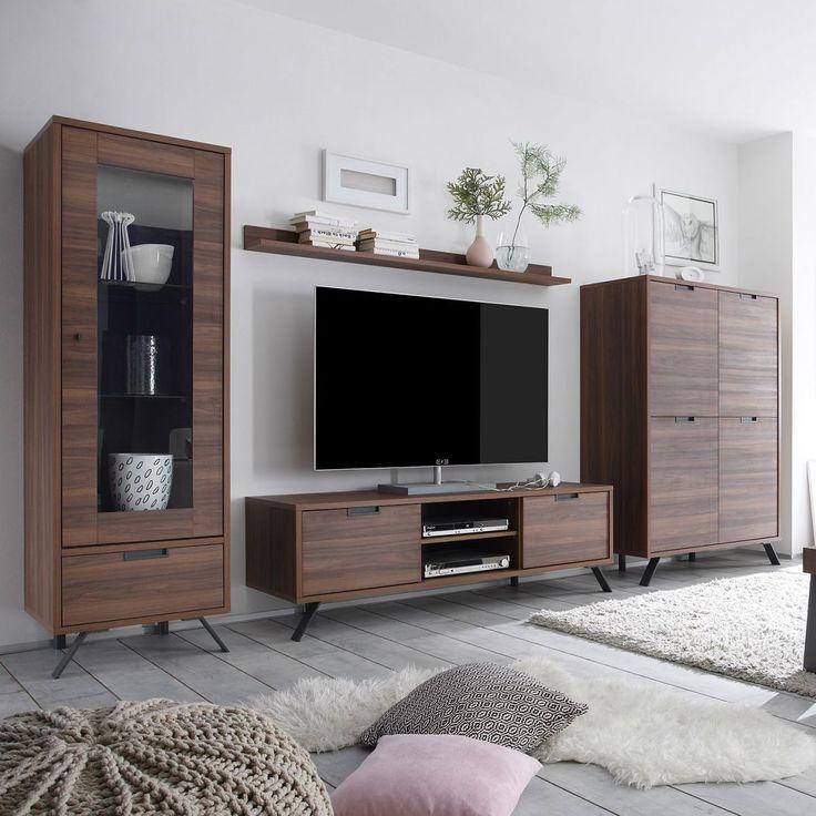 Die besten 25+ Wohnwand nussbaum Ideen auf Pinterest Wohnzimmer - wohnzimmer nussbaum weis