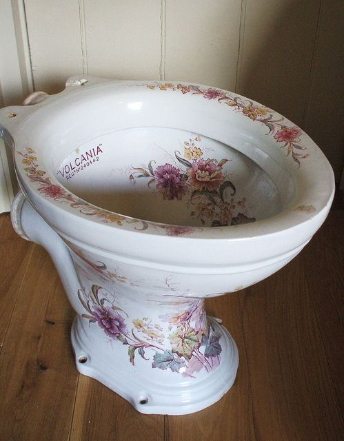 Edwardian loo by the vintage cottage ... it was too lovely to use!