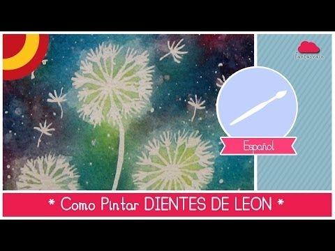 ▶ Curso de Acuarela para Principiantes: como pintar dientes de leon (FACIL!) - YouTube