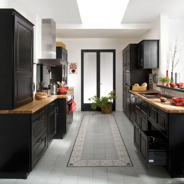 Cheap cuisine bistro noir en bouleau massif lapeyre with for Lapeyre fenetre coulissante