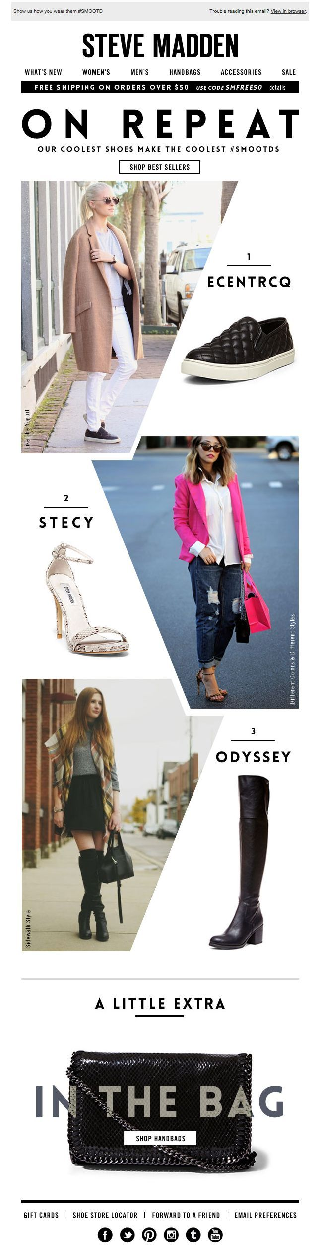 Steve Madden   newsletter   fashion email   fashion design   email   email marketing   email inspiration   e-mail
