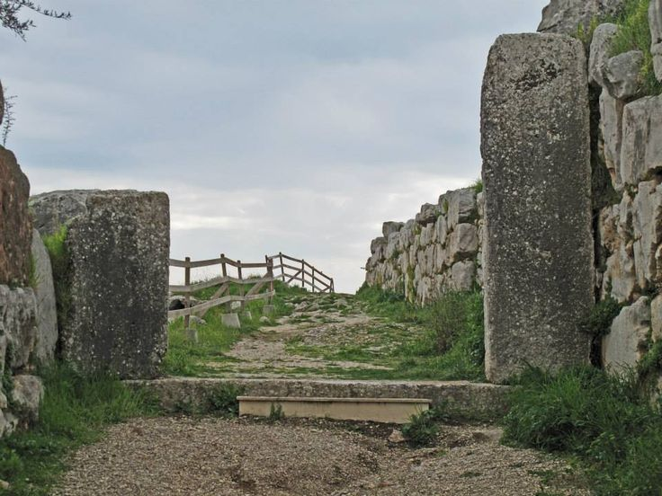 The Great Gate (similar in both size and material to the famous Lion gate of Mycenae) of Ancient Tiryns Mycenaean Citadel (16th c. BC)