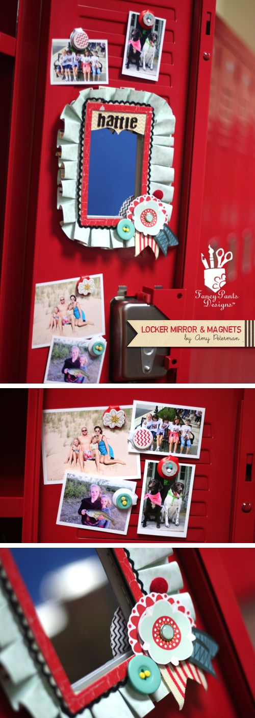 Locker Mirror & Magnets - Amy Peterman for Fancy Pants Designs