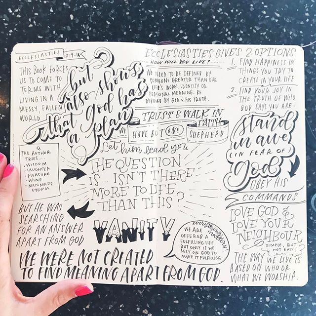 Why take regular notes when you can letter them?!   #churchjournaling #sermonnotes