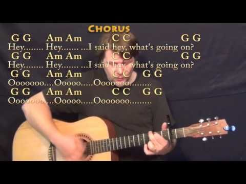 What's Up (4 NON BLONDES) Strum Guitar Cover Lesson with Chords/Lyrics - Capo 2nd - YouTube