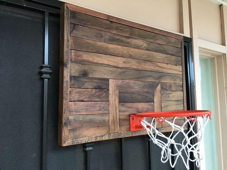 Handmade wooden Basketball Hoop by ReimaginedWoodcraft on Etsy https://www.etsy.com/listing/243917835/handmade-wooden-basketball-hoop