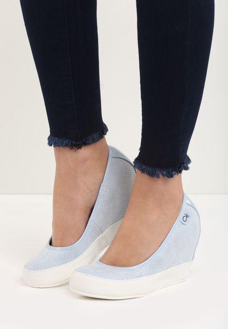 Pantofi cu platforma Latisha Albastri