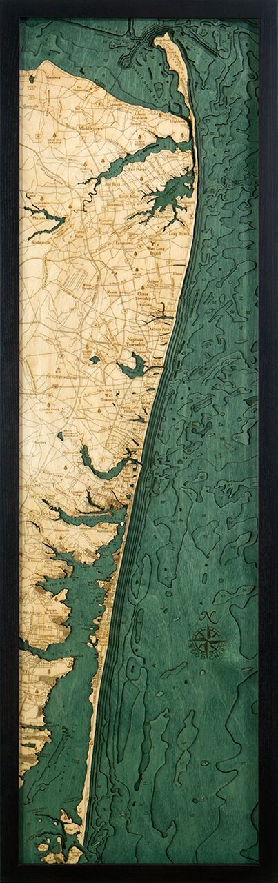 Bathymetric Map New Jersey North Shore 96