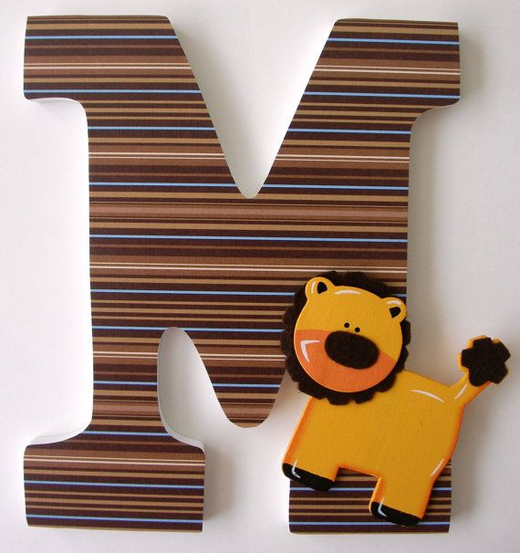 Custom Wooden Letters - SAFARI Theme- Nursery Bedroom Home Décor, Wall Decorations, Wood Letters, Personalized