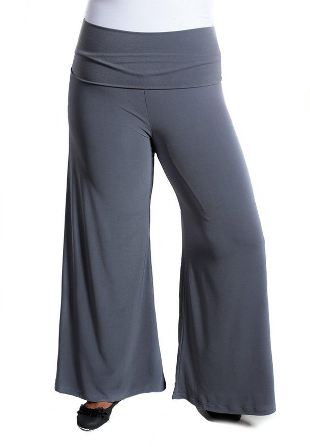 Sealed With A Kiss Designs Plus Size Perfect Palazzo Pants at Amazon Women's Clothing store: Gaucho Pants