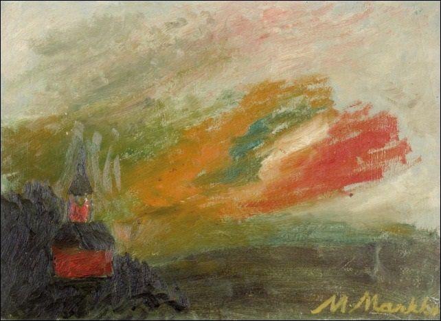 Mauno Markkula: Iltataivas, öljy levylle, 34x46 cm - Artnet