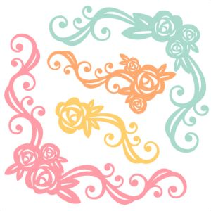 Flower Flourishes SVG scrapbook cut file cute clipart files for silhouette cricut pazzles free svgs free svg cuts cute cut files