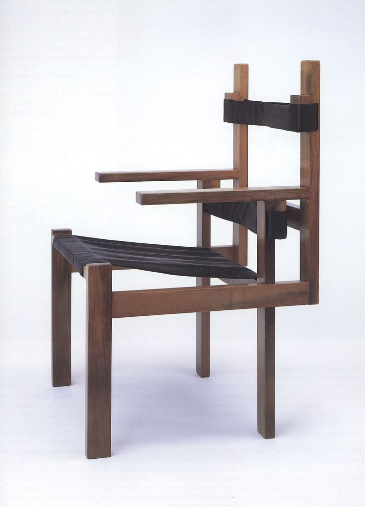 Marcel Breuer: Wood Slat Chair, Second Version, Stained Maple With  Horse Hair Fabric.