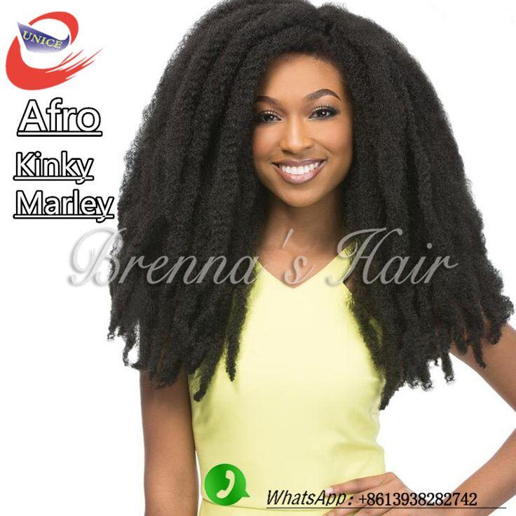 Модное вязание крючком наращивание волос синтетические плетение волос afro kinky marley 16 inch волосы № 1 черные как смоль афро марли косу волосы