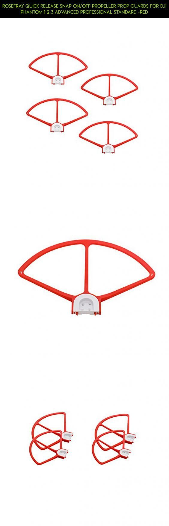 Rosefray Quick Release Snap on/off Propeller Prop Guards for DJI Phantom 1 2 3 Advanced Professional Standard -Red #technology #3 #motor #racing #fpv #dji #camera #plans #standard #shopping #tech #gadgets #phantom #kit #products #parts #drone