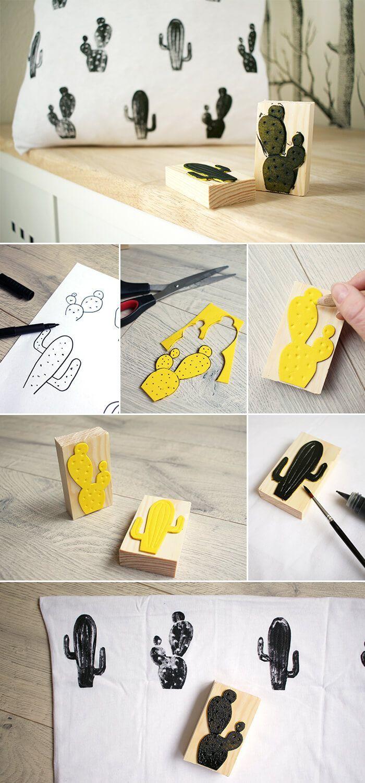 DIY: Dani von Gingered Things entwirft ein Textilmuster und bedruckt mit einem M…