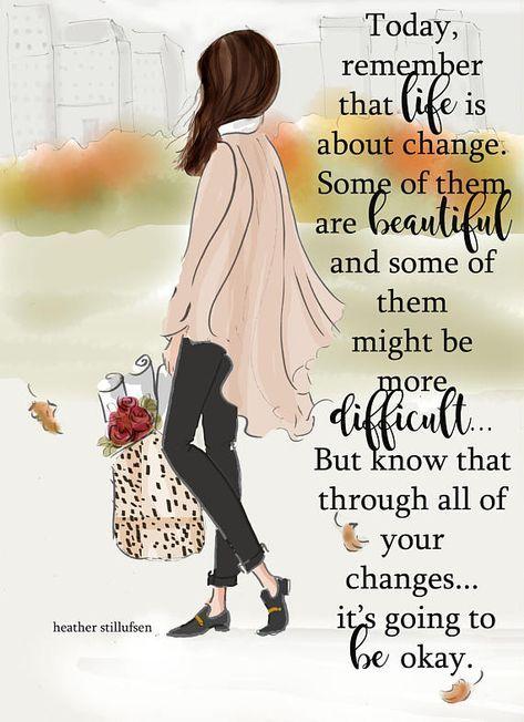 Autumn Changes – Autumn – Autumn Art – Autumn Cards – Greeting Cards – Quotes for Women – Art for Women – Inspirational Art
