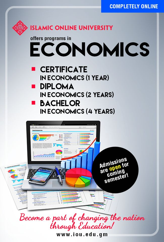 Get a Certificate, Diploma or BA in Islamic Banking and Economics by IOU  Completely ONLINE!