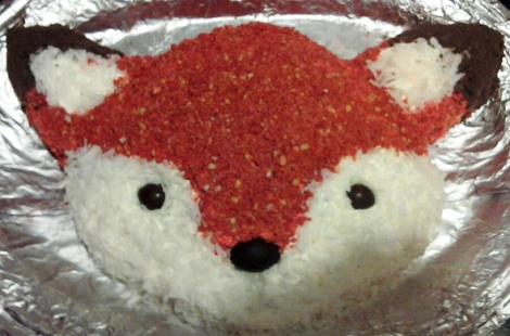 Recipe & free template for how to make this fox cake