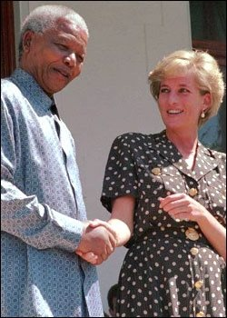 The two most charismatic people of the 20th century met only once. #Nelson_Mandela #Princes_Diana