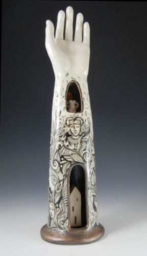 "Contemporary Sculpture - ""Hand reliquary"" (Original Art from Pam Stern)"