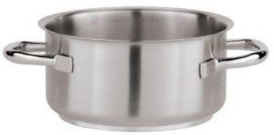 Paderno World Cuisine 3-1/4-Quart Stew Pot by World Cuisine. $76.35. Great for heating or re-heating liquids. Engineered in italy by paderno world cuisine. Suited for blanching vegetables and fruits. Stainless steel. Induction compatible. From the Manufacturer                The Paderno World Cuisine 3-1/4-quart stainless steel stew pot is suited for blanching vegetables and fruits and heating or re-heating liquids, stews and sauces. It is induction compatible.       ...