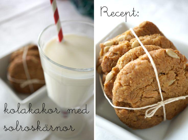 recept kolakkakor med solroskärnor - fantastiskt goda, alla som äter dem frågar om receptet!