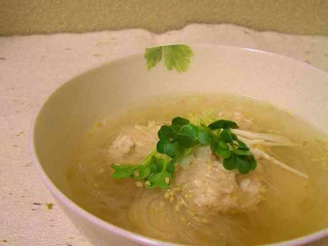 ナンプラー入り鶏だんごスープ