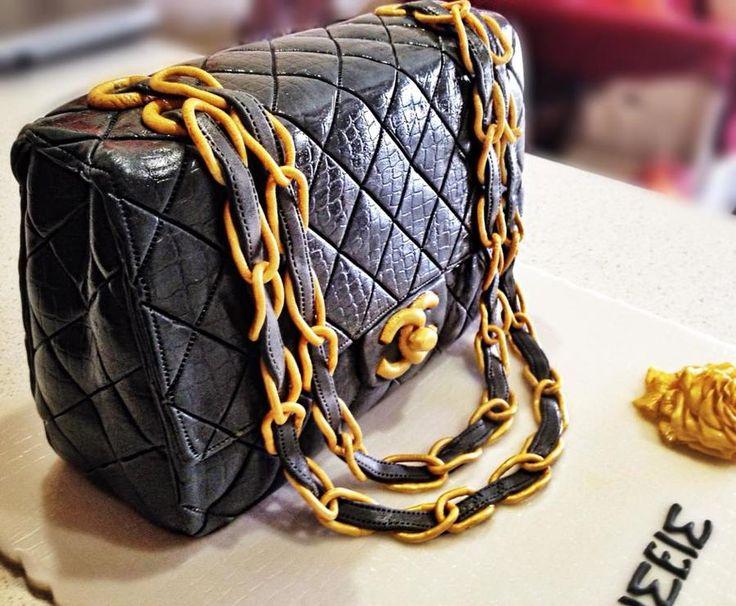 Chanel handbag birthday cake