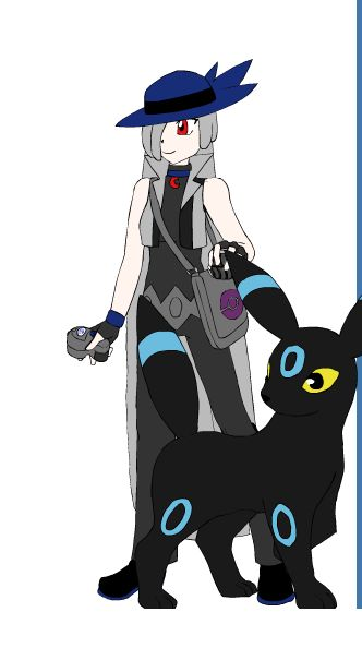 this is my human oc as a pokemon trainer, her name is Alyss and i used a trainer creator to make this.