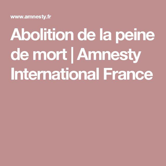 Abolition de la peine de mort | Amnesty International France