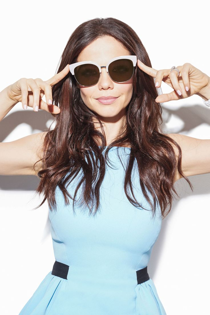 """""""Pretty Little Liars'"""" Queen of Sunglasses Tammin Sursok Shows You Her Off Duty Look in Cotton On Malibu Flat Lens Sunglasses"""