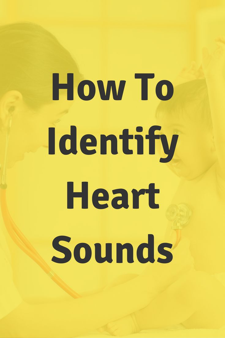 How To Identify Heart Sounds In Nursing School. Click through to succeed in your nursing school clinicals.