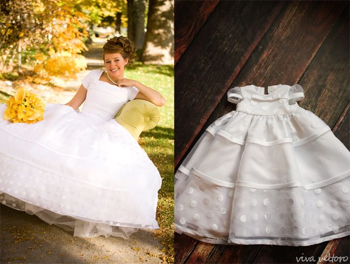 Turn your wedding dress into a blessing gown for your daughter.
