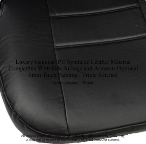 A40 4pc Front Bucket Seat Covers Set PU Soft Leather 8mm Thick Triple Stitched Honda Civic
