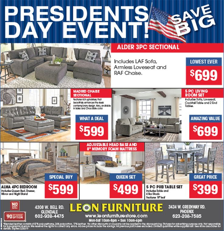 Leon Furniture Is Offering Up To 50% Off For President Day