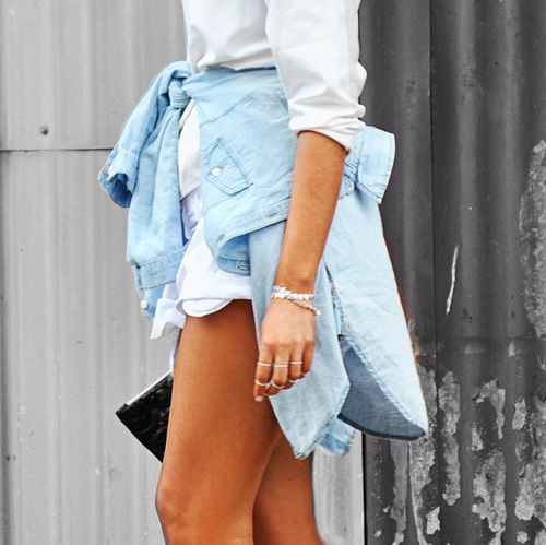 I am in the creative process of preparing my next street style outfit post, and in the mean time I am posting some of my favorite denim inspirations... denim shirt, denim on denim, canadian tuxedo, denim trend, fashion, blue jeans, jean shirt, denim skirt, distressed denim