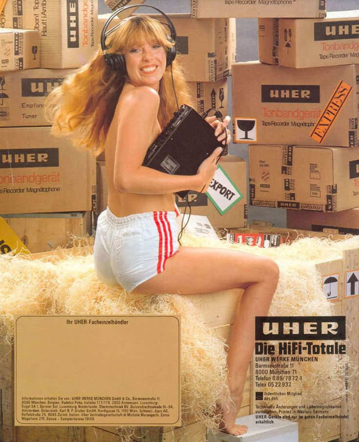 Uher Ad In I Wonder How Many Male Buyers Noticed The Tape Recorder Or Stereophones