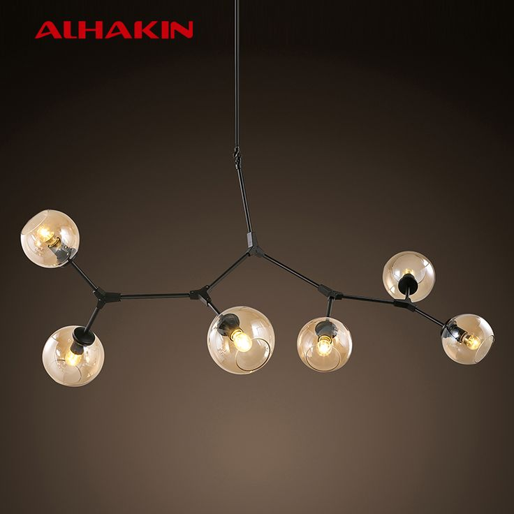 Cheap lamp indicator light, Buy Quality lamp night light directly from China lamp film Suppliers: 			ALHAKIN 1/3/7 Heads 15W Glass Ball Chandelier Crystal Droplight Warm White/White Light Restaurant Home Decorative Lig