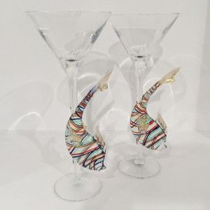 fish cocktail glasses