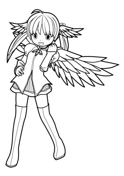 coloriage manga 16