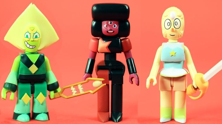 Steven Universe Garnet Pearl and Peridot Sets | McFarlane Toys Review & Speed Build