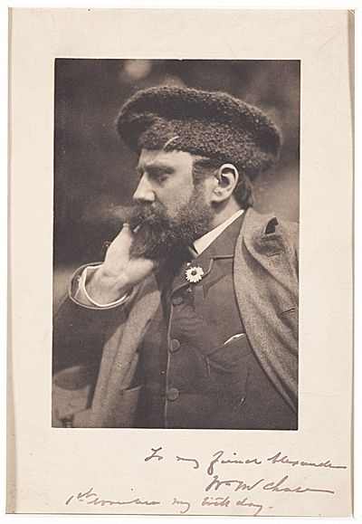 Citation: William Merritt Chase, ca. 1890 / unidentified photographer. John White Alexander papers, Archives of American Art, Smithsonian Institution.