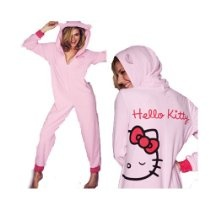 Hello Kitty Bow Snuggle Suit - Onesies - All In One - Various ADULT Sizes