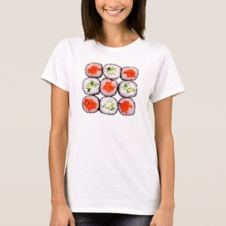 Sushi Rolls Japanese Food Template T-Shirt - tap, personalize, buy right now!