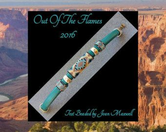 Bead PATTERN Nunki Licorice Leather Peyote Or by Outoftheflames